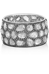 Fred Leighton Collection Platinum And Sterling Silver Diamond Eternity Ring