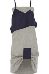 Jacquemus Layered Wool Dress Light Gray