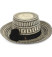 Yosuzi Musa Straw Hat B W With Black