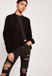 Missguided Cocoon Cardigan Black