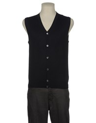 U Plusultra Knitwear Sweater Vests Men Dark Blue