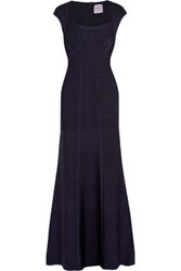 Herve Leger Bandage Gown Midnight Blue