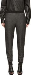 Alexander Wang Black Cotton Twill Lounge Pants