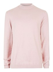 Topman Dusty Pink Mini Roll Neck Jumper