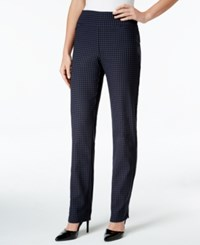 Charter Club Gingham Print Pull On Pants Only At Macy's Deepest Navy Combo
