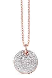 Monica Vinader Ava Disc Pendant Diamond