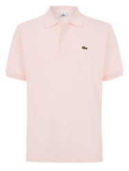Lacoste Pique Men S Short Sleeve Polo Pink