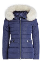 Peuterey Quilted Down Jacket With Fur Trimmed Hood Gr. It 42