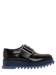 Jil Sander 50Mm Brushed Leather Platform Shoes