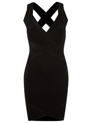 Andrea Bogosian V Neck Dress Black