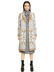 Tory Burch Tapestry Wool Blend Jacquard Coat