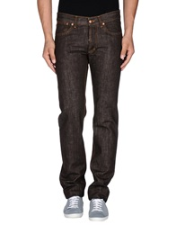 Shaft Denim Pants Dark Brown