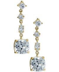 Giani Bernini Multi Crystal Linear Drop Earrings In 18K Gold Plated Sterling Silver Only At Macy's