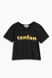Wildfox Couture Tan Fan T Shirt Black