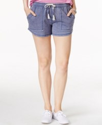 Lucky Brand Elastic Waist Drawstring Shorts Twilight Blue