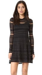 Mcq By Alexander Mcqueen Geo Lace Dress Darkest Black