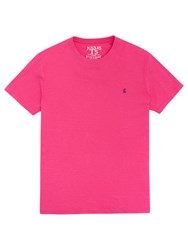 Joules Crew Neck T Shirt Dazzling Pink