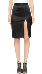L'agence Skirt With Front Slit Black