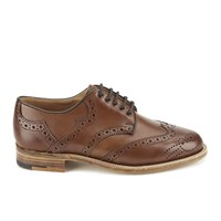 Knutsford By Tricker's Women's Leather Brogue Shoes Beechnut Tan
