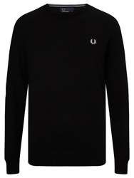 Fred Perry Crew Neck Merino Jumper Black
