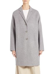 Acne Studios Wool And Cashmere Peacoat Grey