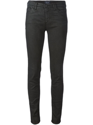 Armani Jeans Coated Skinny Jeans Black