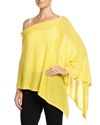 Minnie Rose Asymmetric Cotton Poncho Sunshine Yellow