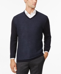 Ryan Seacrest Distinction Ryan Seacrest Felted Houndstooth V Neck Sweater Only At Macy's