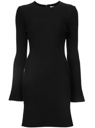Derek Lam 10 Crosby Fitted Long Sleeve Dress Black
