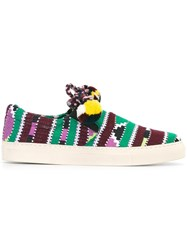 Ports 1961 Pom Pom Slip On Sneakers Multicolour