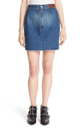 Zadig And Voltaire Women's 'Juny' Denim Miniskirt Bleu