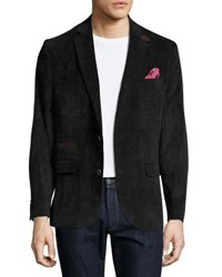 English Laundry Corduroy Quilted Combo Blazer Black