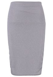 Evenandodd Pencil Skirt Silver