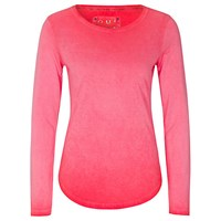 Oui Long Sleeve Jersey Top Peach Whip