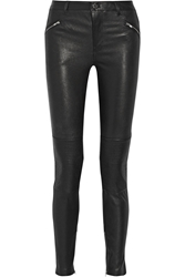 Blk Dnm 1 Stretch Leather Skinny Pants