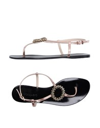 Anna Baiguera Footwear Thong Sandals Women Light Pink