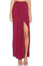 Becandbridge Desert March Maxi Skirt Maroon