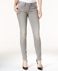 Miss Me Ripped Gray Wash Skinny Jeans Light Grey