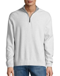 Tommy Bahama Quarter Zip Sweater Winter White