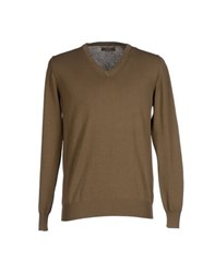 Alpha Massimo Rebecchi Knitwear Jumpers Men Khaki