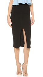 Alice Olivia Air Spiga Front Slit Pencil Skirt Black