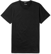 Jil Sander Ander Lim Fit Cotton Jerey T Hirt Black