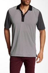 Cutter And Buck Compound Mixed Stripe Polo Black