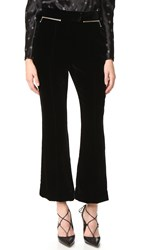 Nina Ricci Velvet Flared Pants Black