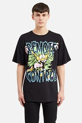 Jeremy Scott Remote Control T Shirt Fantasy Print Black
