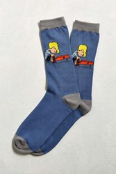 Urban Outfitters Schroeder Sock Blue