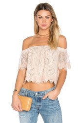 Endless Rose Off The Shoulder Lace Top Blush