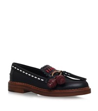Tod's Embroidered Gypsy Loafers Female Black