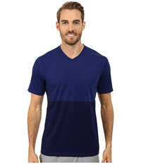 Brooks Fly By Short Sleeve Top Heather Marathon Navy Men's Short Sleeve Pullover
