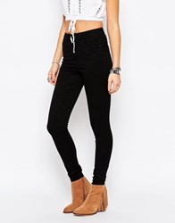 Only Royal High Waist Skinny Jeans Black